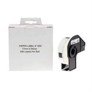 Brother DK1204 - 17mm*54mm*400 étiquettes compatible