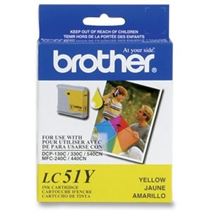 Brother LC51 Jaune OEM