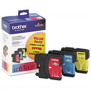 Brother LC 61 OEM paquet de 3 couleurs