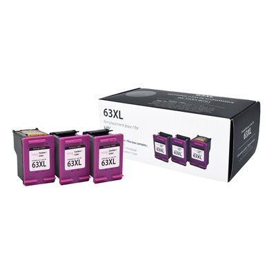 HP No.63XL F6U63AN Couleur Premium Ink (3 cartouches.1 tête)