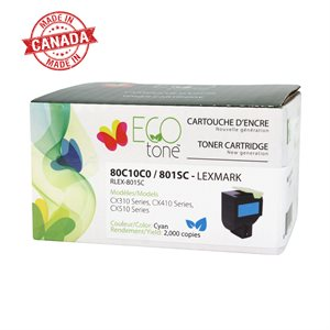 Lexmark CX310 / CX410 / CX510 - 801SC / 80C1SC0 Toner cyan 2K
